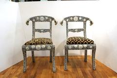 Pair of Kismos Chairs with Ram Heads