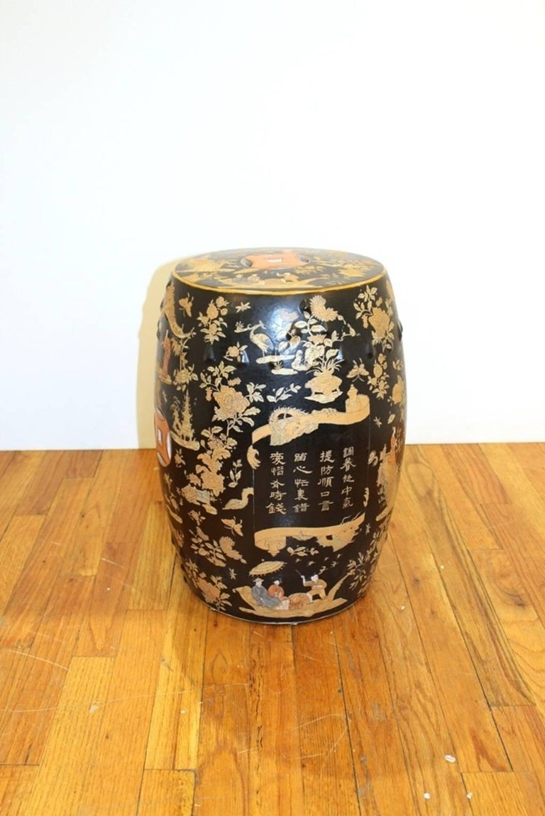 Chinoiserie Garden Stool With Landscapes For Sale At 1stdibs