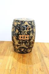 Chinoiserie Garden Stool with Landscapes