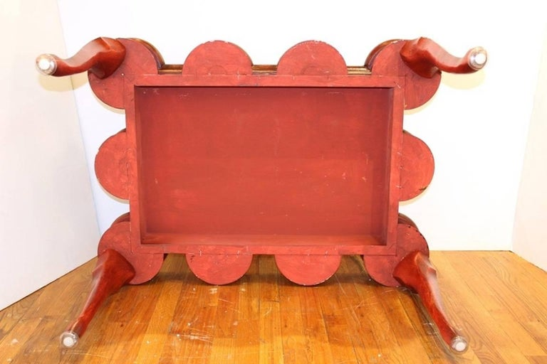 Chinoiserie Coffee Table in Red and Gold For Sale 2