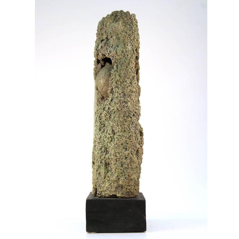American Cast Aluminum Brutalist Sculpture by Dcalvi For Sale