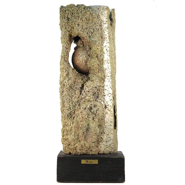 Cast Aluminum Brutalist Sculpture by Dcalvi For Sale