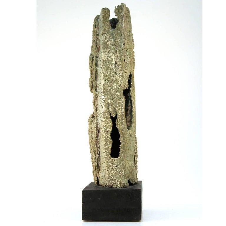 Mid-20th Century Cast Aluminum Brutalist Sculpture by Dcalvi For Sale
