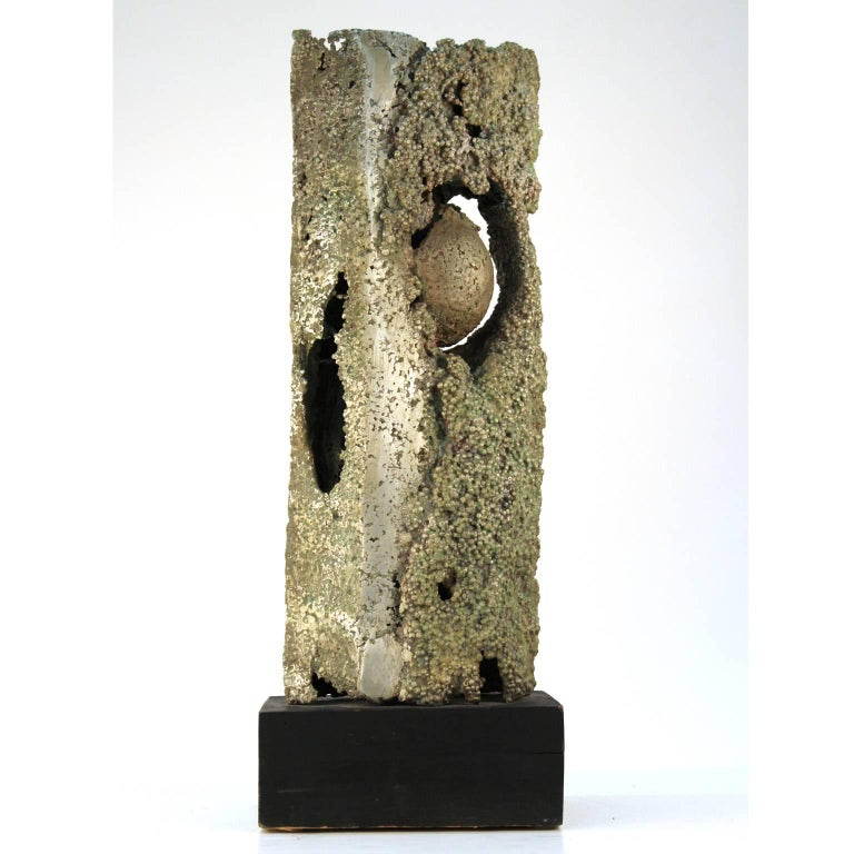 Cast Aluminum Brutalist Sculpture by Dcalvi In Fair Condition For Sale In New York, NY
