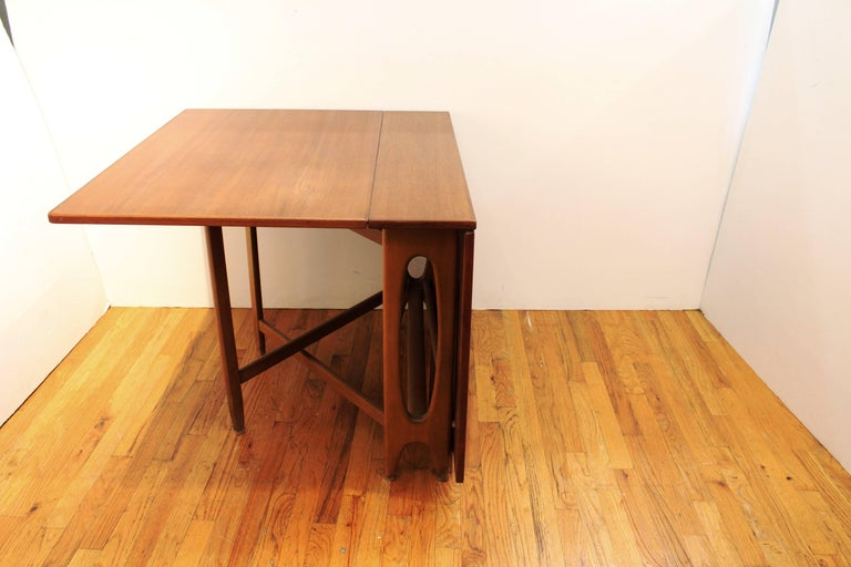 Mid century modern style teak folding dining table for sale at 1stdibs - Modern folding dining table ...