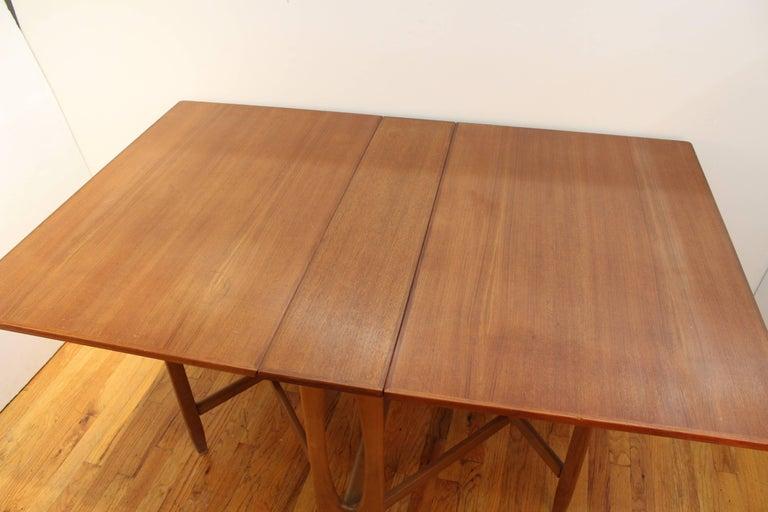 MidCentury Modern Style Teak Folding Dining Table At Stdibs - Mid century modern folding dining table