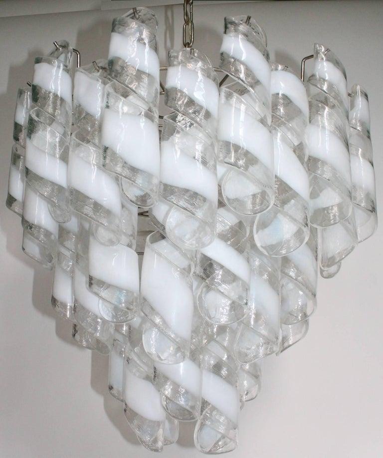Italian Murano Glass Tiered Chandelier For Sale