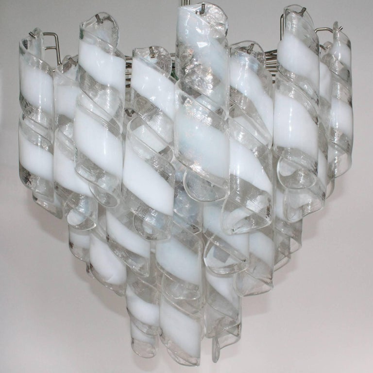 Mid-Century Modern Murano Glass Tiered Chandelier For Sale
