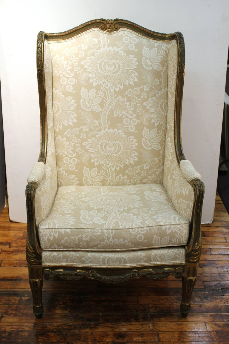 french louis xvi style giltwood berg re armchair for sale at 1stdibs. Black Bedroom Furniture Sets. Home Design Ideas