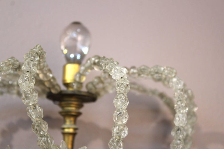 Pair of Decorative Rock Crystal Sconces For Sale 3
