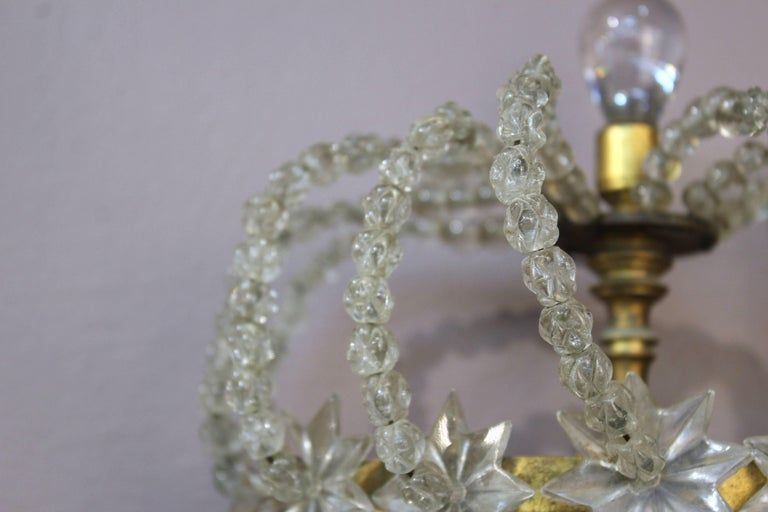 Pair of Decorative Rock Crystal Sconces For Sale 4