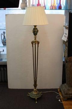 Antique Floor Lamp with Urn Motif