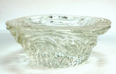 Seguso Murano Clear Textured Glass Bowl