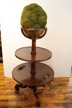 Antique Etagere with Faux Topiary