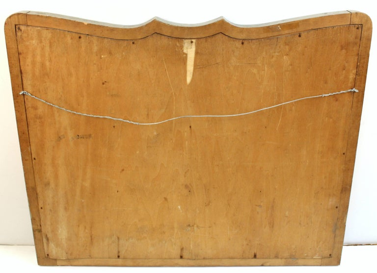 Art Deco Style Mirror with Divided Mirror Panels, Rosettes, and Swag Motif For Sale 3