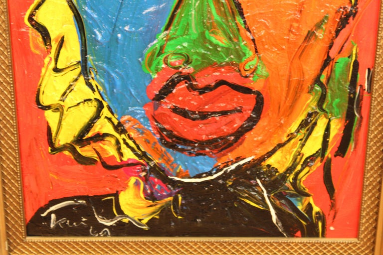 German Peter Keil Portrait of Jayne Mansfield, Signed Oil on Canvas For Sale