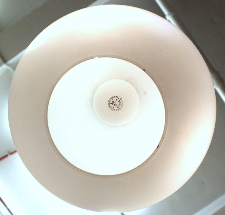 Space Age Frosted Glass Pendant Attributed to Attributed to Stilux, circa 1960 For Sale