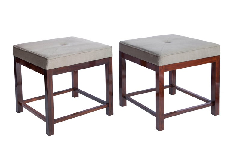 Brazilian mid century modern stools in jacaranda with upholstered seats for sale at 1stdibs - Brazilian mid century modern furniture ...