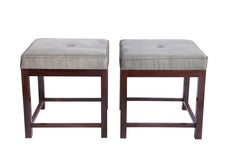 Brazilian Mid-century Modern Stools in Jacaranda with Upholstered Seats