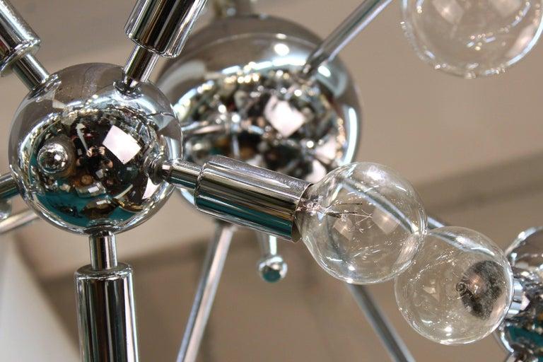 Italian Mid-Century Modern Chrome Sputnik Chandelier For Sale 1