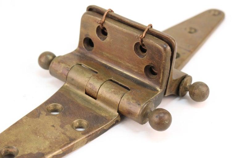 Industrial Style Vintage Brass Door Hinge For Sale 3