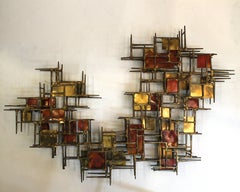 Brutalist Nail Assemblage Wall Sculpture