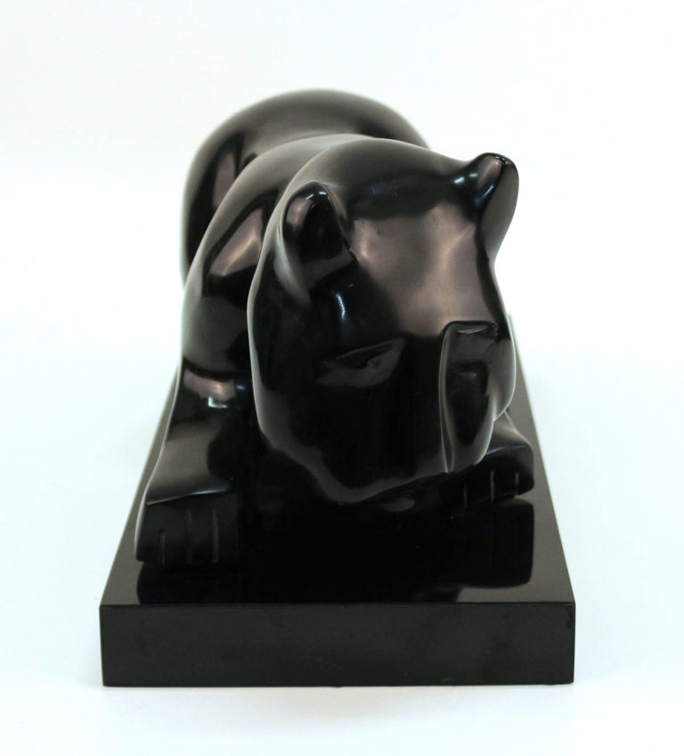 Large Cat Sculpture In Good Condition For Sale In New York, NY