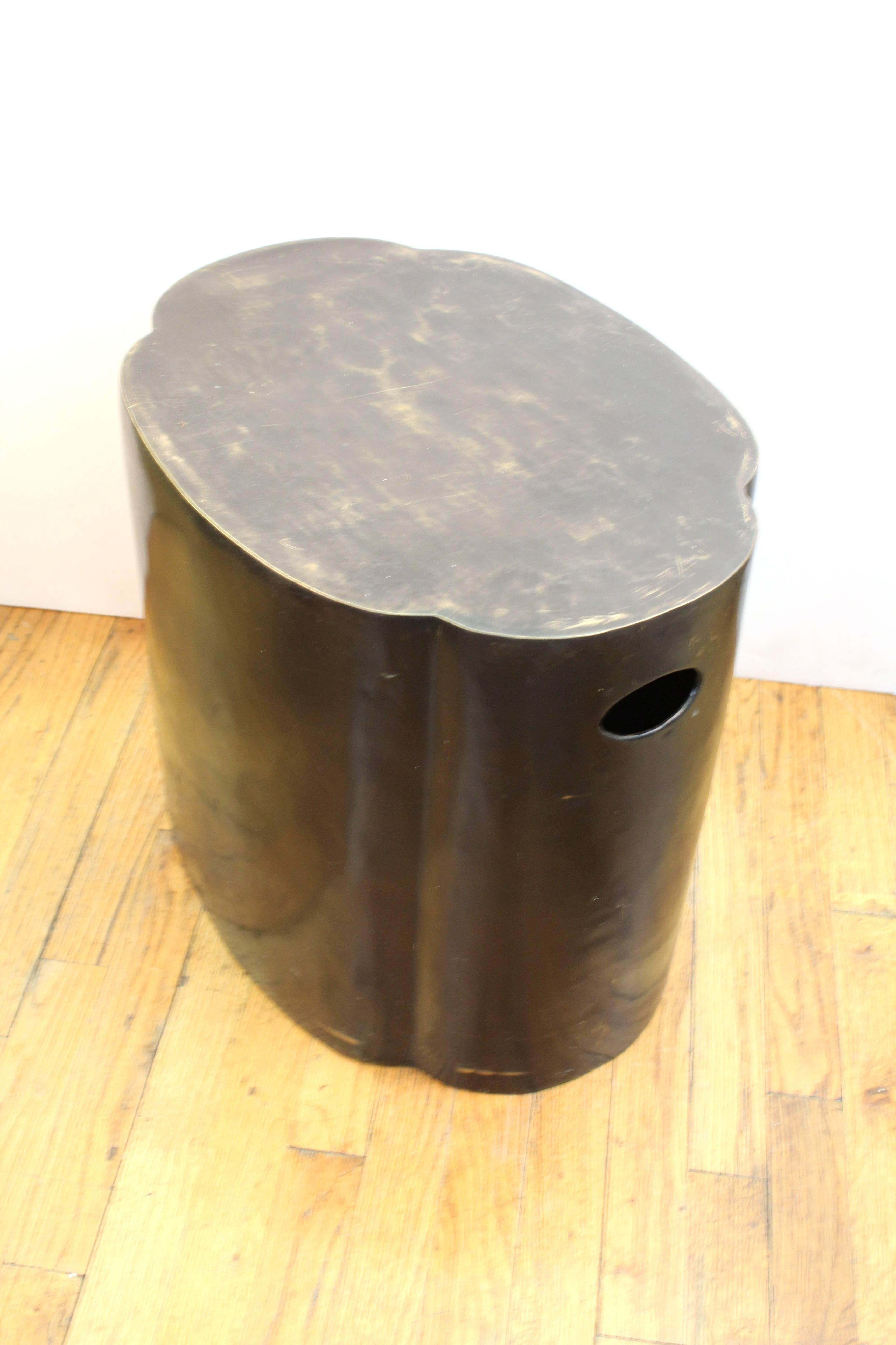 Bronze Garden Stool In Good Condition For Sale In New York, NY