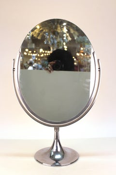 Mid-Century Oval Counter-top Vanity Mirror