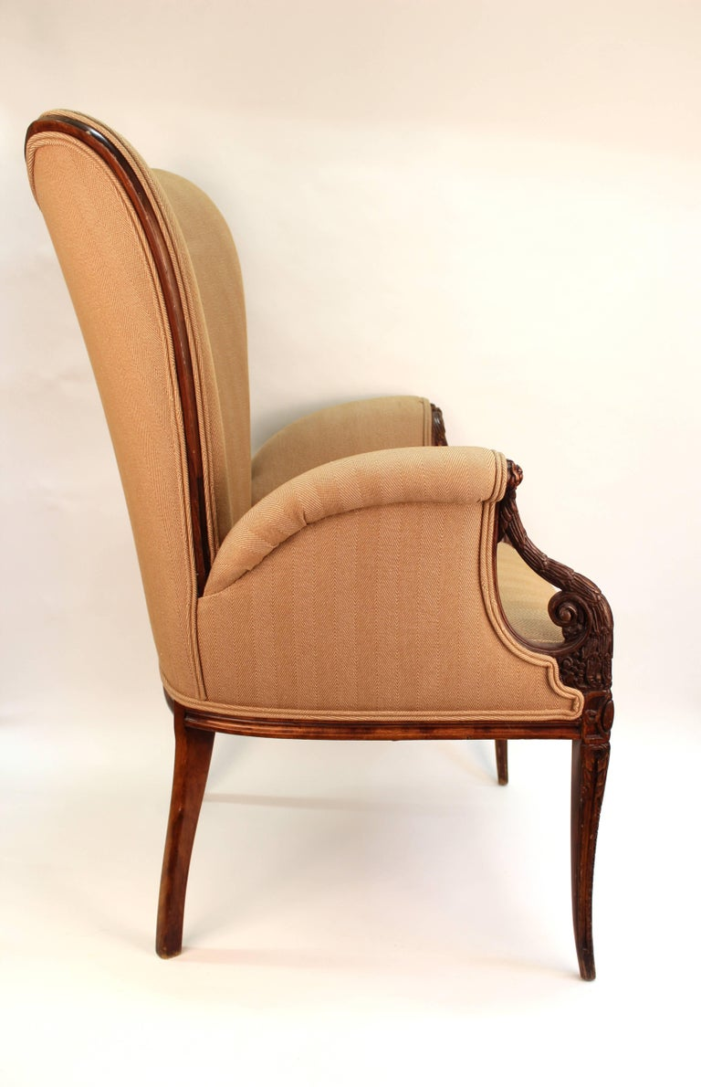 American Neoclassical Style Grosfeld House Butterfly Armchairs For Sale
