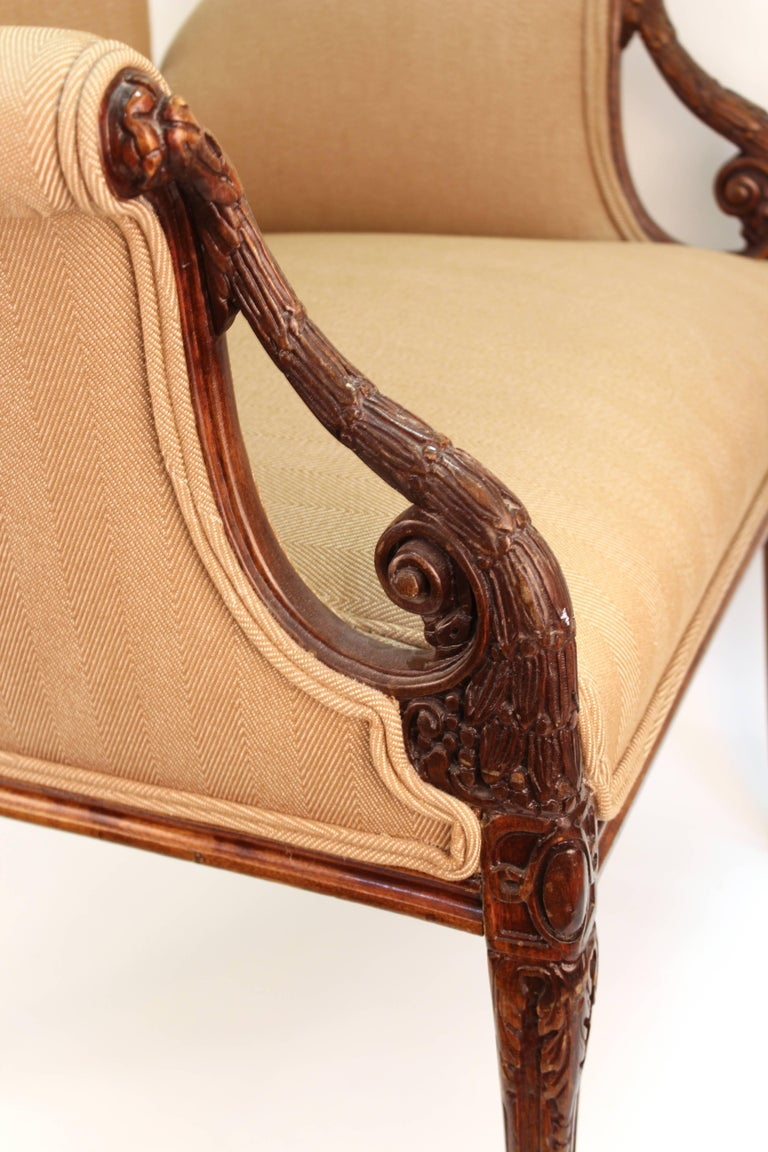 Neoclassical Style Grosfeld House Butterfly Armchairs In Good Condition For Sale In New York, NY