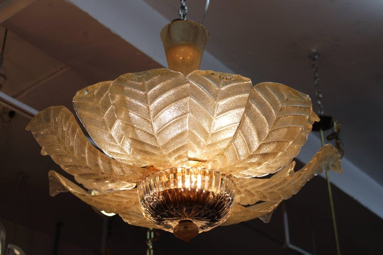 Italian Modern Chandelier With Murano Glass Leaves For Sale At Stdibs - Italian light fixtures