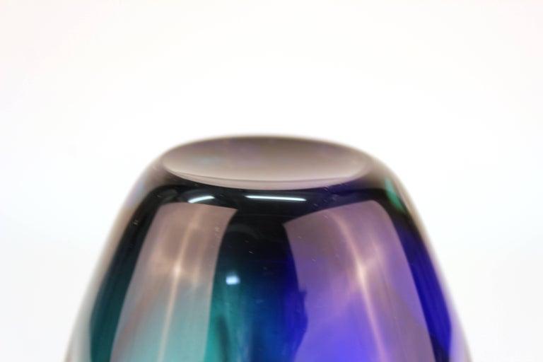 Mid-Century Modern Murano Sommerso Glass Vase For Sale 2