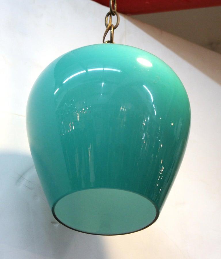Massimo Vignelli for Venini Italian Glass Pendant In Good Condition For Sale In New York, NY
