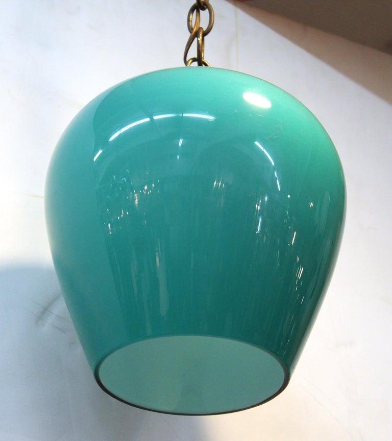 20th Century Massimo Vignelli for Venini Italian Glass Pendant For Sale