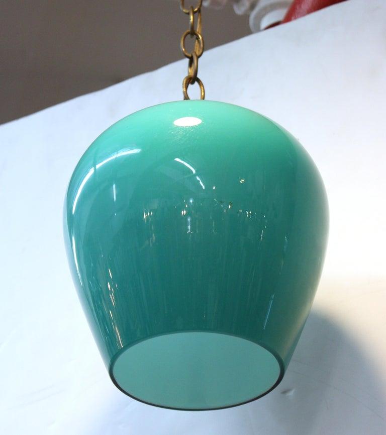 Mid-Century Modern Massimo Vignelli for Venini Italian Glass Pendant For Sale