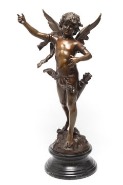 French Neoclassical Revival 'Cupidon' Bronze Sculpture After Auguste Moreau