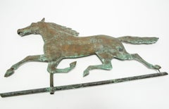 American Folk Art Copper Horse Weathervane in Ethan Allen Manner