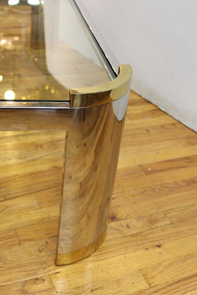 Jay Spectre Modernist Coffee Table with Triangular Frame  For Sale 4