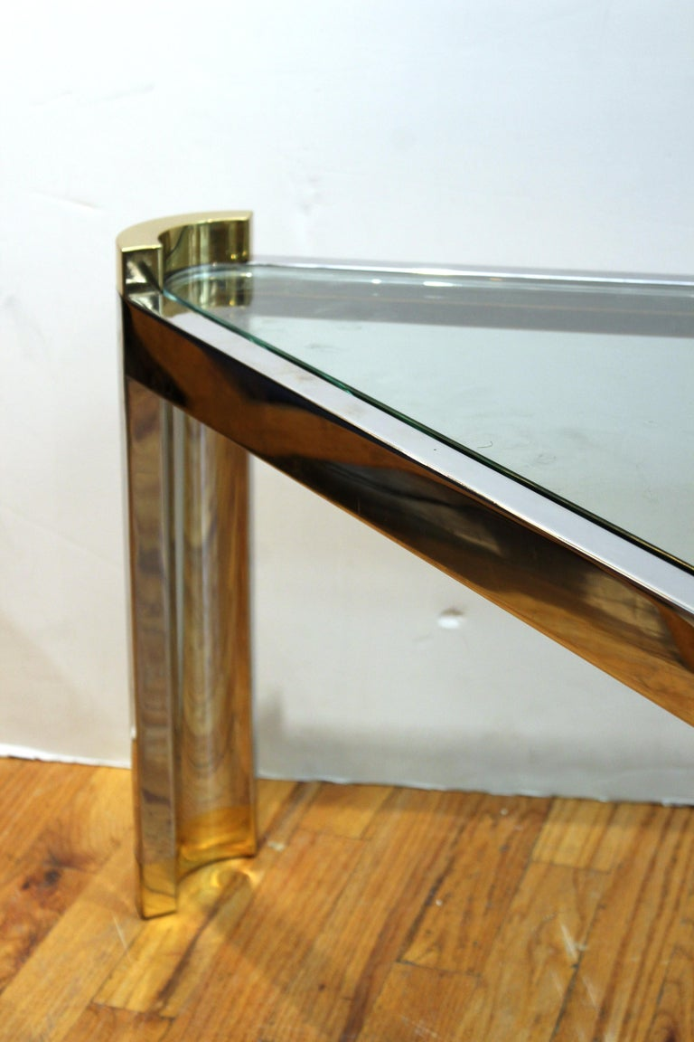 Jay Spectre Modernist Coffee Table with Triangular Frame  For Sale 2