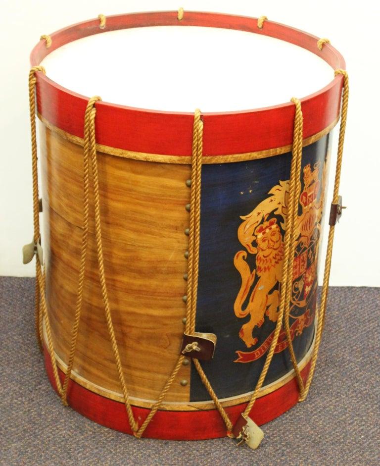 20th Century Hollywood Regency Style Regimental British Drum Side Tables For Sale