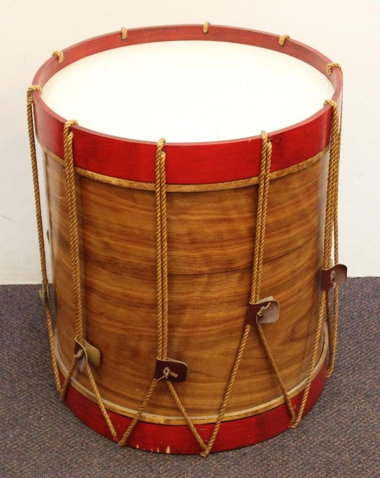 Hollywood Regency Style Regimental British Drum Side Tables For Sale 1