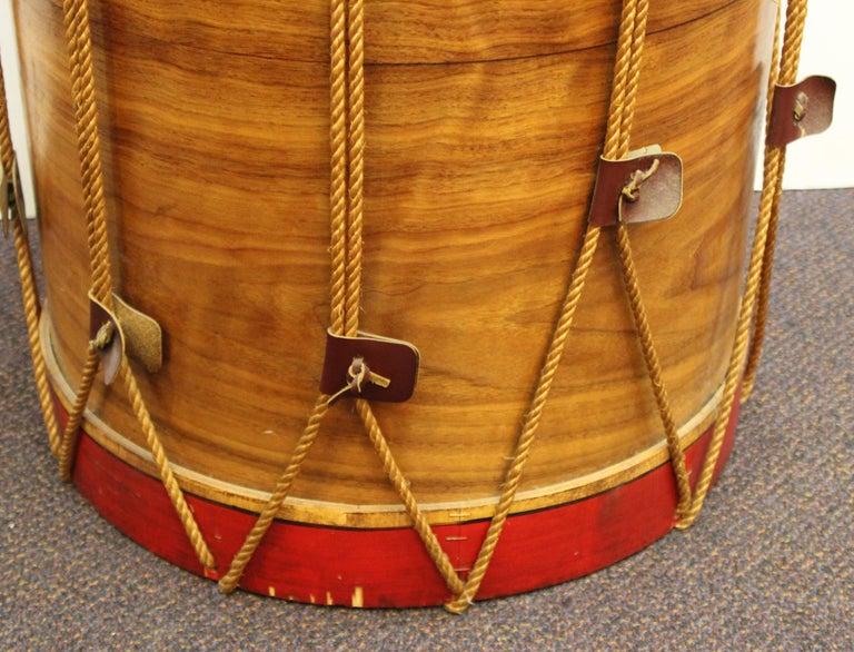 Hollywood Regency Style Regimental British Drum Side Tables For Sale 2