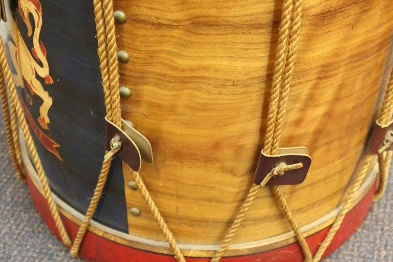 Hollywood Regency Style Regimental British Drum Side Tables For Sale 3