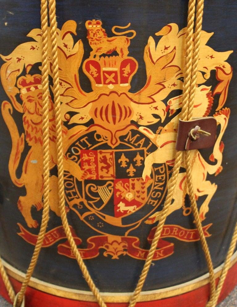 Hollywood Regency Style Regimental British Drum Side Tables For Sale 4