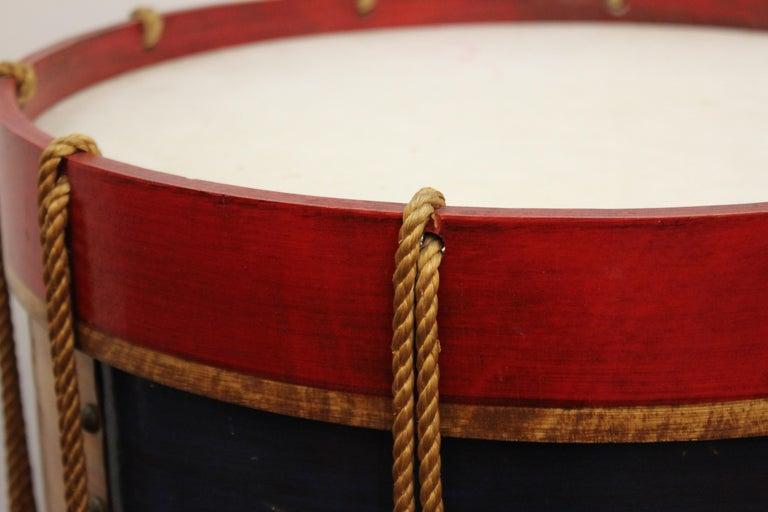 Hollywood Regency Style Regimental British Drum Side Tables For Sale 5