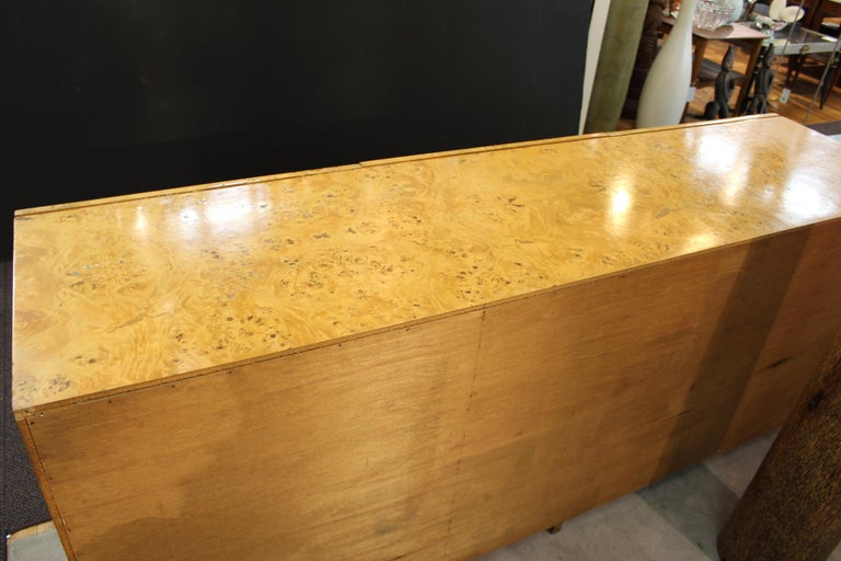 Mid-Century Modern Burlwood Credenza Attributed to Milo Baughman For Sale 11