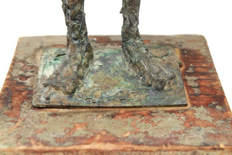 Mid-Century Modern Brutalist Bronze Cowboy Sculpture For Sale 3