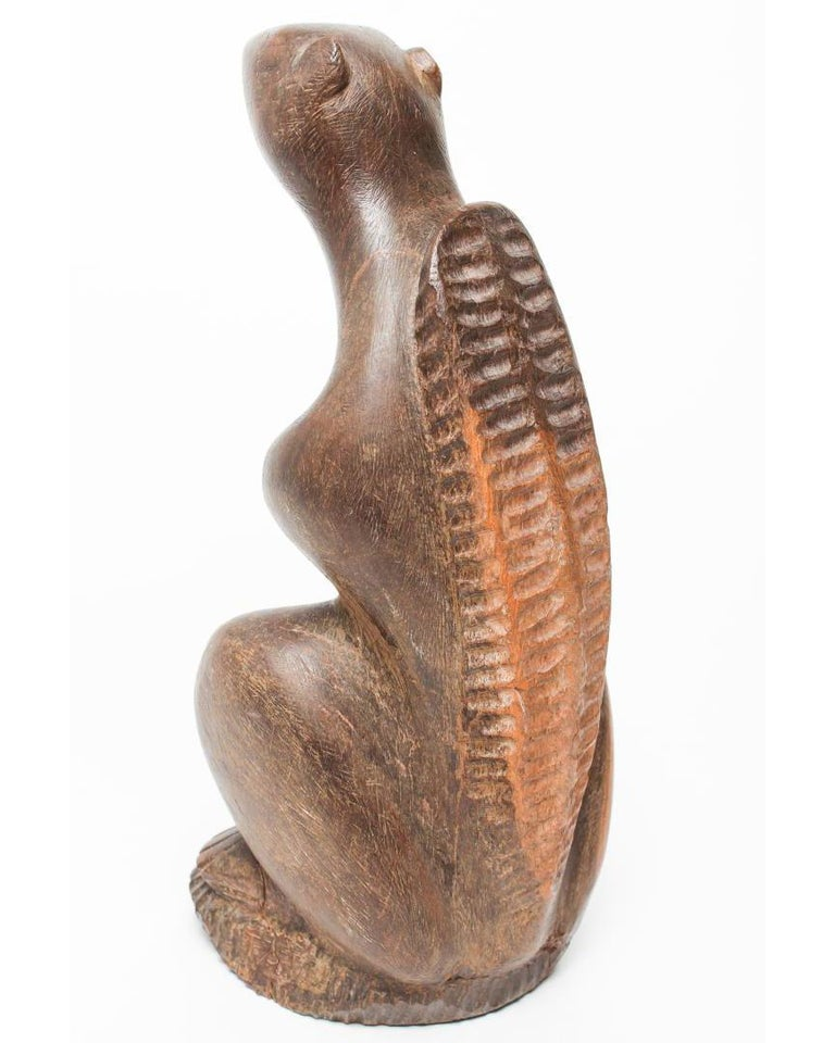 American Midcentury Folk Art Benedict Tatti Squirrel Sculpture In Good Condition For Sale In New York, NY