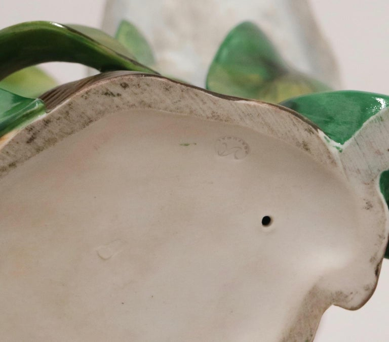 Hollywood Regency Vista Alegre Portuguese Porcelain Parrot Figures For Sale 1